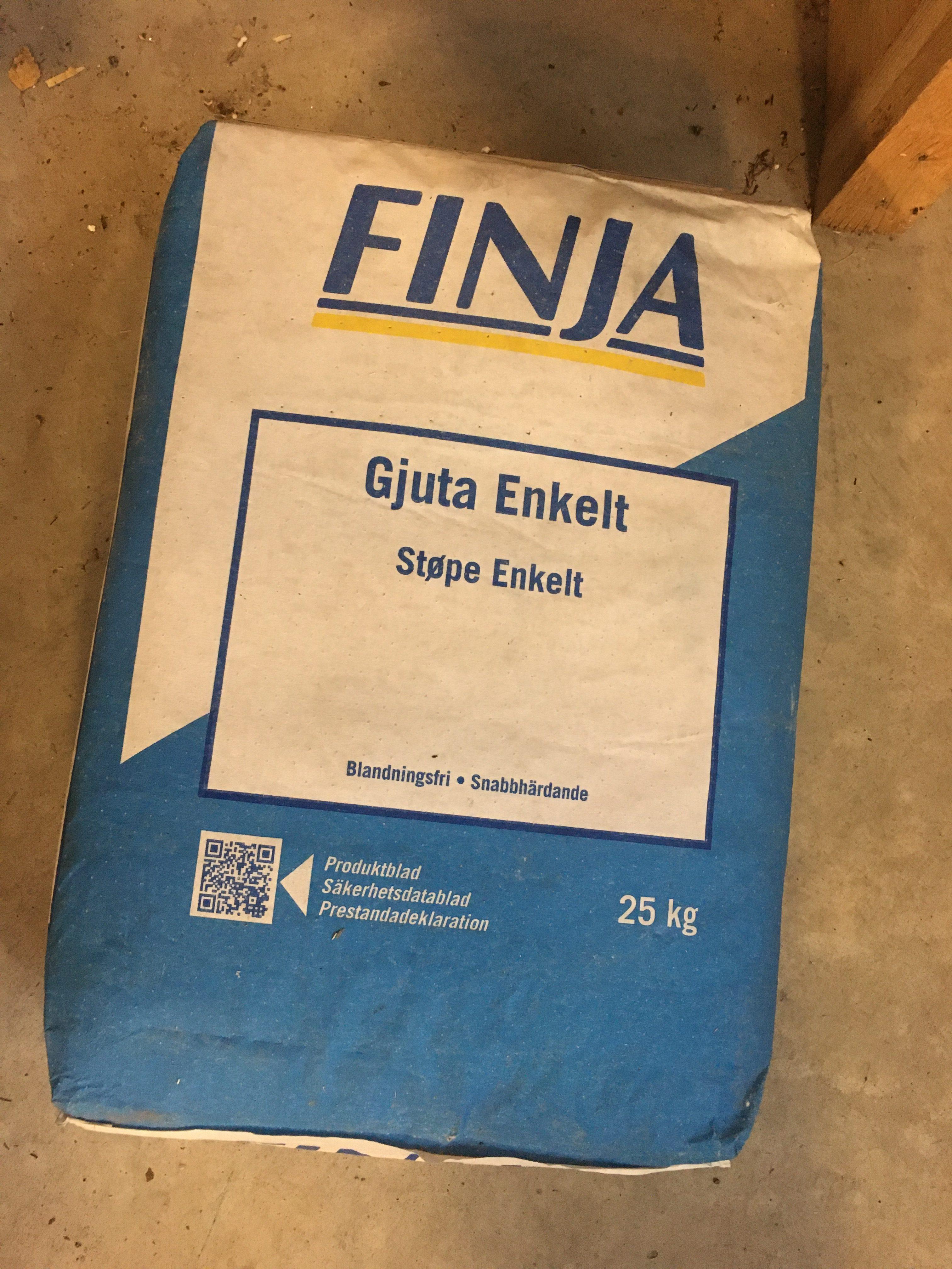 En säck Gjuta enkelt 25 kg