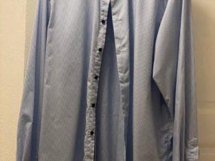 Skjorta från Eton blå/vit-rutig